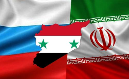 RUSSIA-SYRIA-IRAN-FLAGS